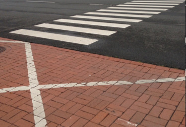 white line marking Boston