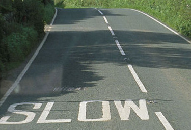 white line marking UK