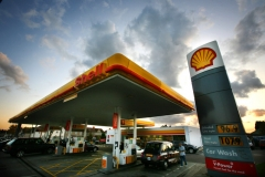 Shell Petrol Station Line Markings