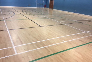 Leeds line markings for sports halls
