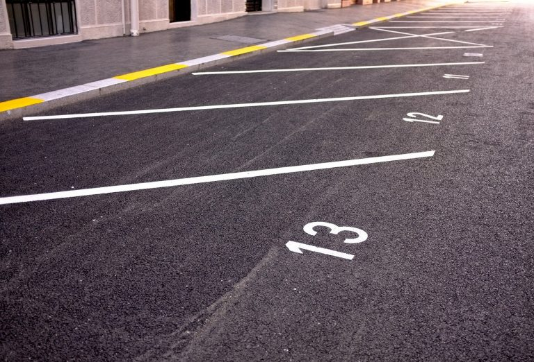 car park line marking in Grantham