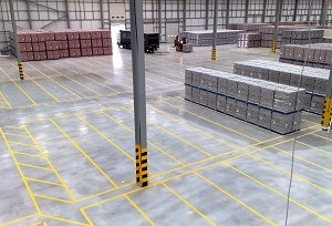 Watford warehouse Floor Line Marking Company